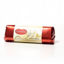 Carstens Lubecker Chocolate Covered Marzipan Bar 125g